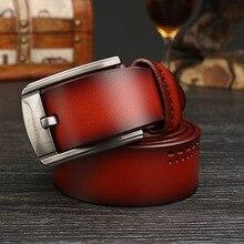 Men's 100% Genuine Leather Pin Buckle Belt