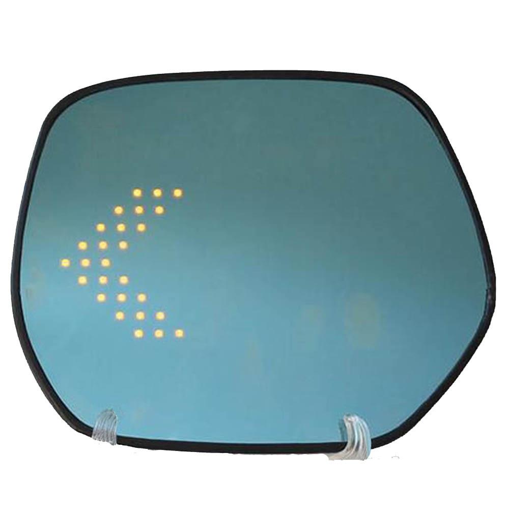 Rétroviseur de porte latérale de débrouillard de chaleur de clignotant de flèche de grand angle LED bleue de multi-courbure pour la pièce extérieure de honda CR-V CRV