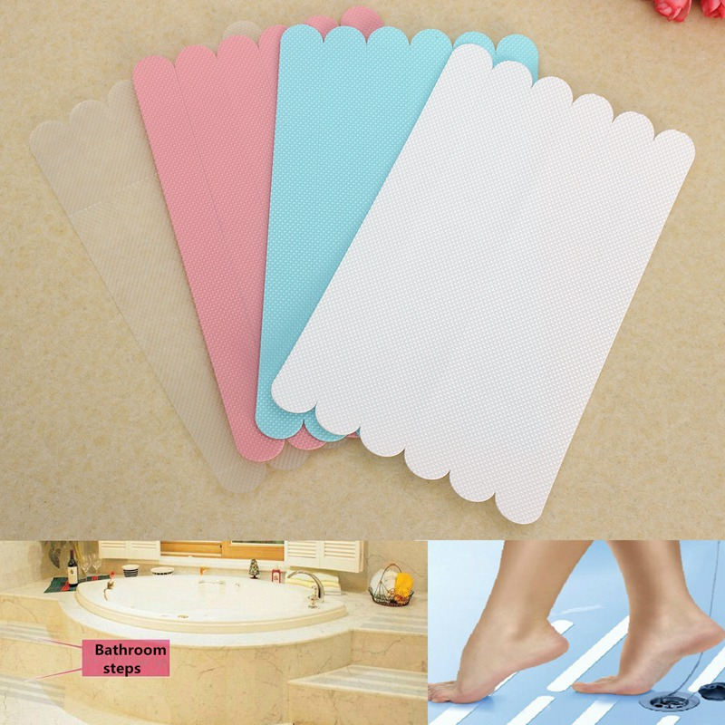New Bathtub Treads Non Slip Applique Feet Grip Stickers Anti Skid Shower Safety