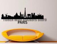 Paris City Landscape Wall Stickers Creative Landscape Scene Vinyl Stickers Home Home Bedroom Art Decoration Removable