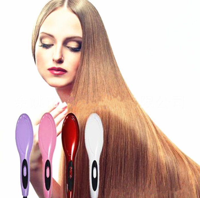 2016 New Professional Hair Straightener Comb Electric Brush Hair Straightening Flat Iron Styling Tools professional ceramic electric hair straightener brush detangling hair straightening iron comb smooth brush styling tools