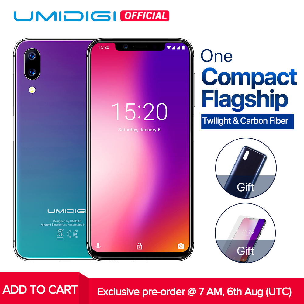 """UMIDIGI ONE Global version 5.9""""fullsurface mobile phone Android 8.1 P23 Octa Core 4GB 32GB smartphone 12MP+5MP Dual 4G cellphone"""