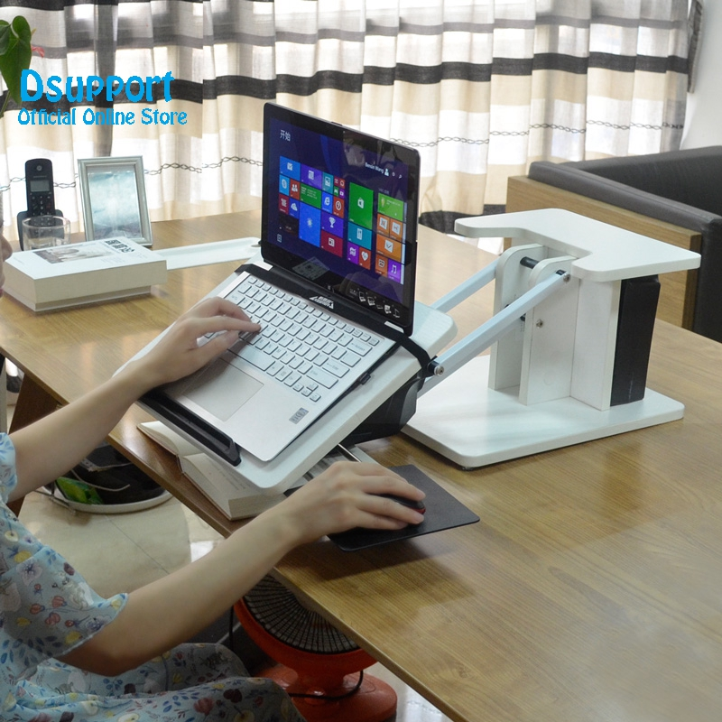 New arival Full Motion Long Arm Multifunctional Moving Laptop Desk Sofa Bedside PC Stand Lazy Lift Mobile Computer Table in TV Mount from Consumer Electronics