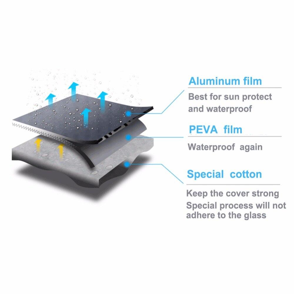Kayme aluminium halvtäckskydd vattentät bil parasoll solskydd - Exteriör biltillbehör - Foto 2