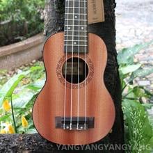 Soprano Ukulele 21 Inch Hawaiian Guitar 4 Strings Ukelele Guitarra Mahogany Uke Handcraft Wood Musical Instruments Mini