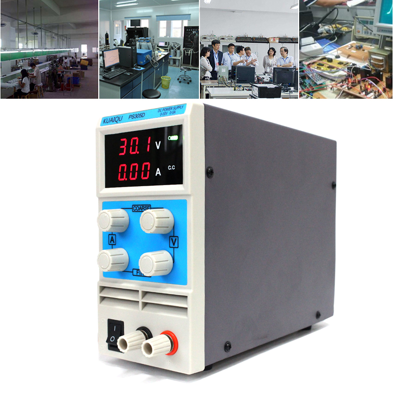 KUAIQU mini DC Power Supply,Switching Power Supply Display Digits Variable Adjustable 0-30V0-5A PS305D (5)