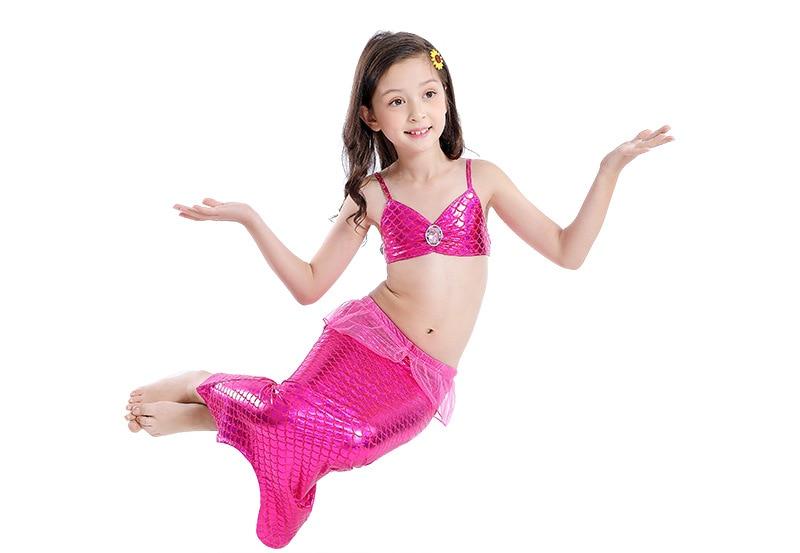 Mother & Kids Yy1803 New Fashion Girl Swimwear Mermaids Swimsuits Bikini And Swimmers Mermaid Cosplay Costumes