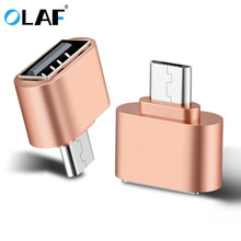 цена на Olaf Mini OTG Cable USB OTG Adapter Micro USB to USB Converter for samsung xiaomi Tablet PC Android MP3 U Disk Reader Connector