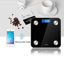 1pc Smart Body Fat 13-Index Monitor LED Display Bluetooth BMI Fitness Weigh Scale Healthy Care Supplies Weight Measuring Hot