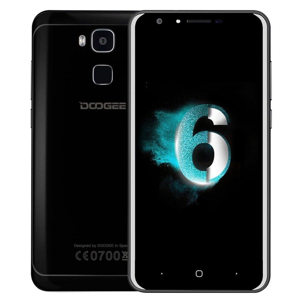 Original Doogee Y6 MTK6750 Piano Negro 4 GB + 64 GB Teléfono Móvil 1.5 GHz Octa