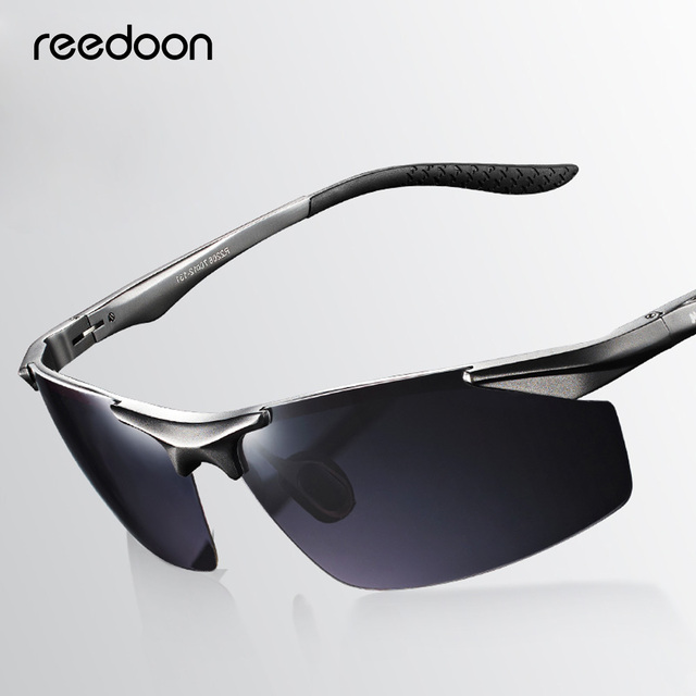 1d7d30157e0 Reedoon Sunglasses Men Polarized Lens UV400 Metal Frame Vintage Sun Glasses  Brand Designer Male Goggles For Driving Fishing 2206