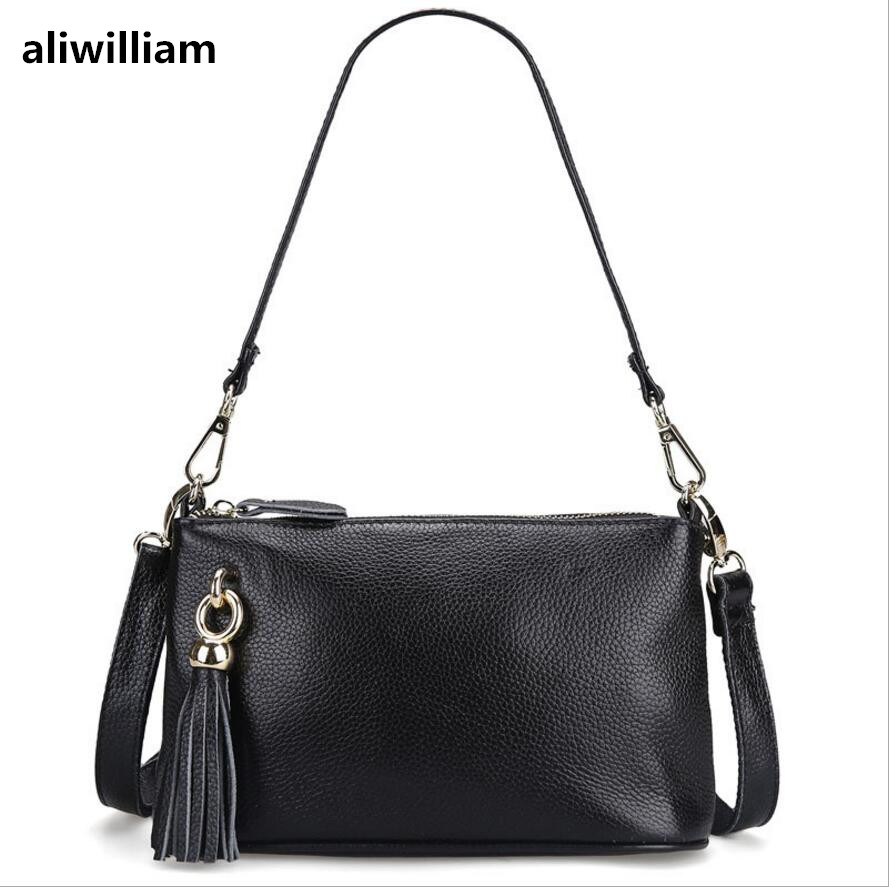 ALIWILLIAM Fashion first-class Cowhide Ladies Shoulder Casual Bag Leather Women's Messenger Bag Handbags Women's Fashion Handbag aliwilliam brand ladies leather handbag