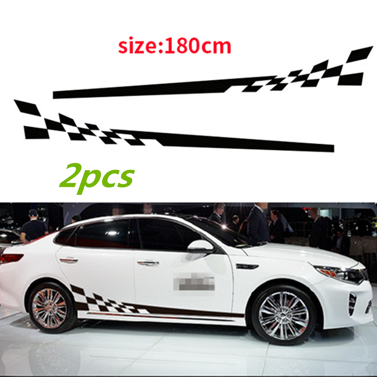 2Pcs Car Decal Vinyl Graphics Side Stickers Body Decals ...