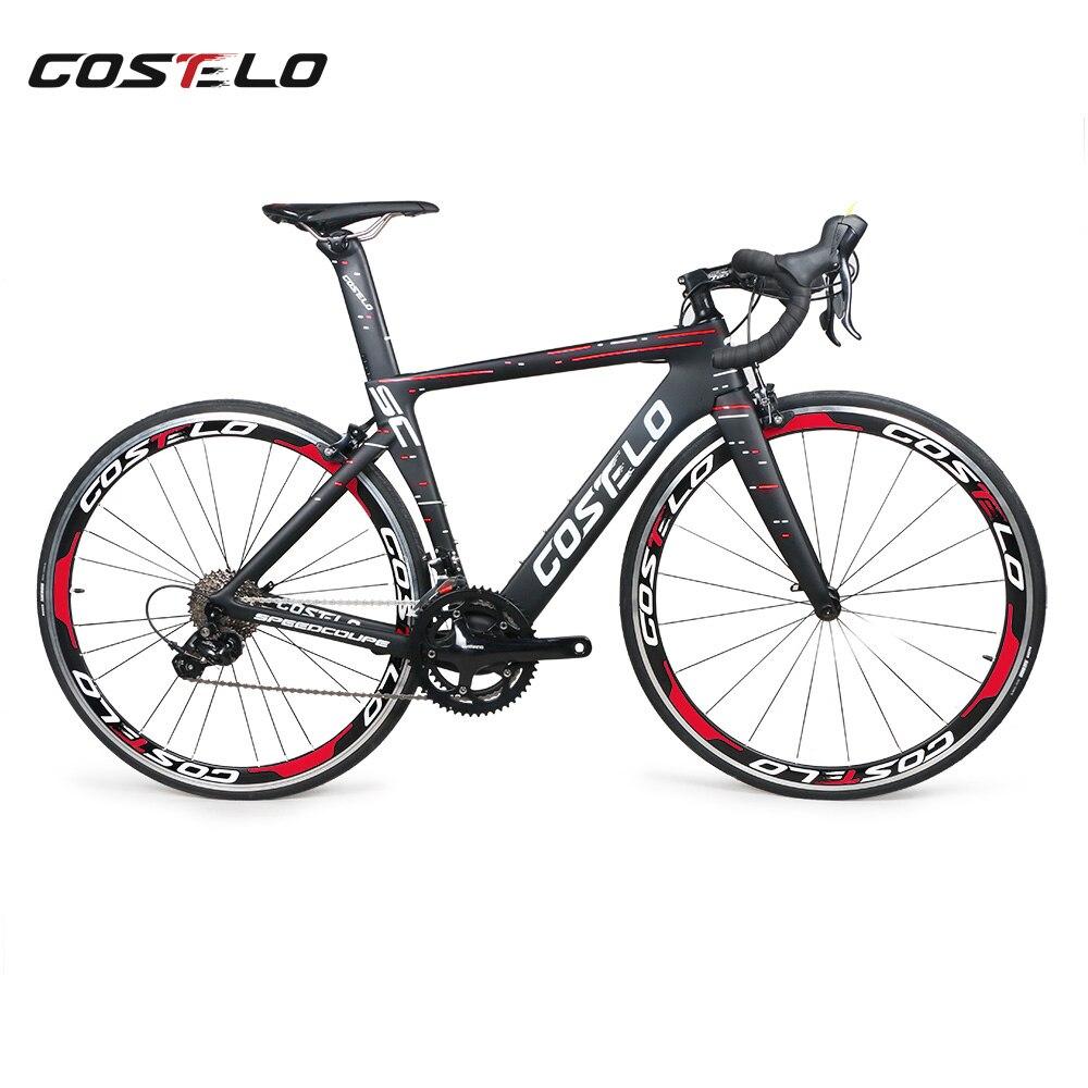 2018 Новый costelo speedcoupe углеродного волокна дороги велосипеда полный велосипед с 40 мм колеса 3500 Group дешевые велосипед