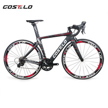 2018 New Costelo Speedcoupe carbon fiber road bike frame complete bicycle with 40mm wheels 3500 group cheap bike