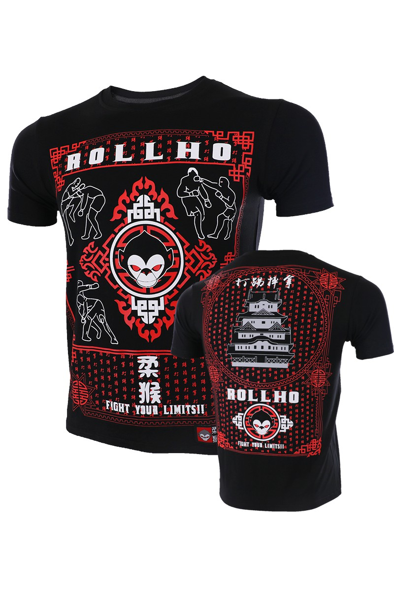 ROLLHO Monkey Fighting Martial Arts Wind Fighting T Shirt MMA Free Combat Boxing Martial Arts Thai Boxing Elasticity  Broadca