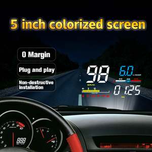 Image 4 - GEYIREN Car HUD D5000 OBD2 Head Up Display Digital Speedometer Windshield Projector Overspeed RPM Water Temperature Alarm