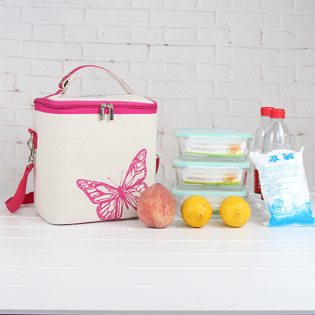 New Korean Linen Heightening Thicker insulation package Lunch bag Ice pack Fresh Refrigerated Box Big capacity Travel Picnic bag