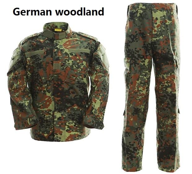 Tactical Uniform Camouflage Suit Military Combat Uniform Set Shirt + Pants German Woodland Camouflage Clothing Hunting ClothesTactical Uniform Camouflage Suit Military Combat Uniform Set Shirt + Pants German Woodland Camouflage Clothing Hunting Clothes