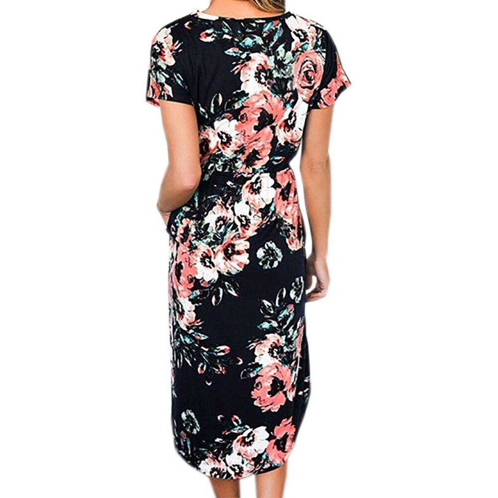 Bohemian Dress 2018 Women Autumn Dresses O-neck Long Sleeve Printed Sexy  Loose Winter Pocket Dresses Plus Size GV267USD 11.99-12.99 piece a0d9e8cb9300