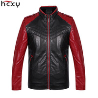 HCXY 2017 Motorcycle Leather Aviator Jackets Men Autumn Winter Leather Clothing Men Leather Jackets Male Business