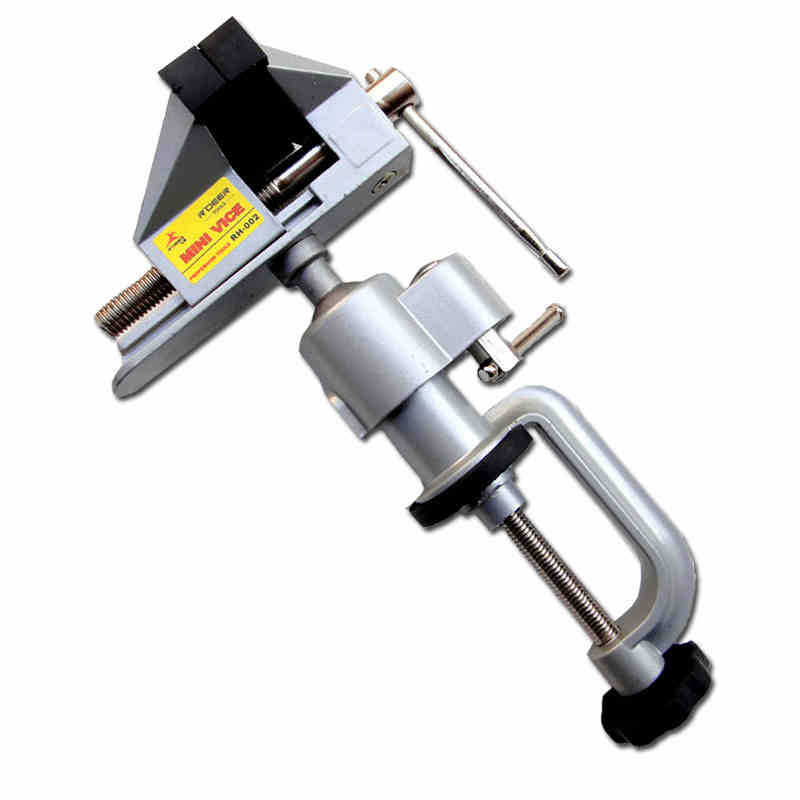 ФОТО Universal Aluminum Alloy Table Vice Bench 360 Degree Screw Fixed Repair Tool Good Quality