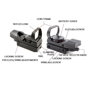 Image 4 - Riflescope 20mm רכבת הולוגרפי אדום Dot Sight 4 Reticle טקטי היקף Collimator האופטי sight ציד Airsoft אופטיקה