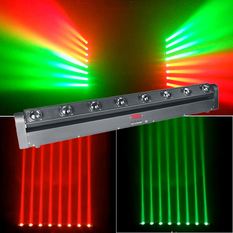 RGBW 8x12W LED Bar Beam Moving Head Light DMX512 Moving Head Beam Light For DJ Disco Party Nightclub Event Show Stage