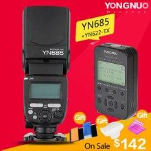 YONGNUO YN685 YN-685N HSS TTL de Flash Inalámbrico Speedlite para Canon Nikon + YN622C-TX/YN622N-TX Kit Set