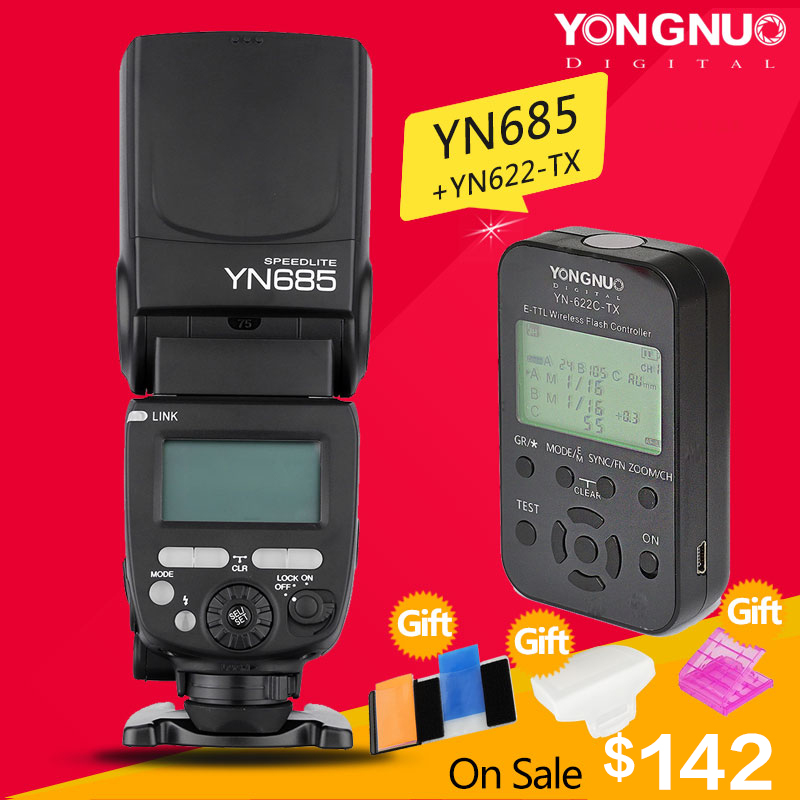 YONGNUO YN685 YN 685N Wireless HSS TTL Flash Speedlite for Canon Nikon with Flash Trigger YN622C