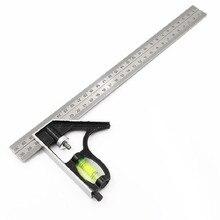 """300 мм(1"""") Регулируемый инженеры комбинация попробуйте квадратный набор правый угол линейка P10"""