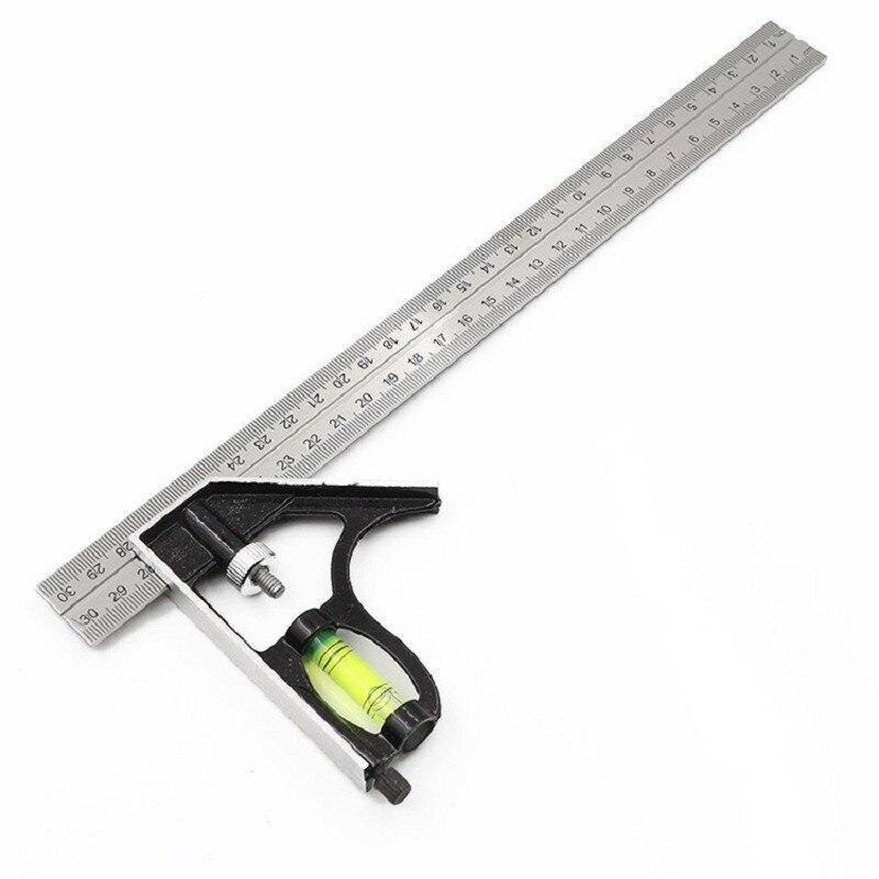 Nouveau 300mm (12 ) réglable ingénieurs combinaison essayer carré ensemble règle à Angle droit P10