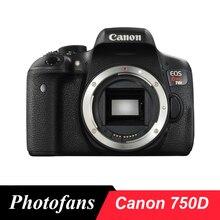 """Цифровая зеркальная камера Canon 750D/Rebel T6i-24,2 Мп-3,"""" сенсорный экран с переменным углом наклона-Full HD 1080 p-Wi-Fi"""