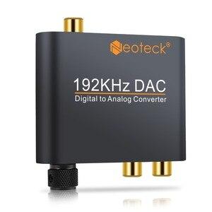 Image 3 - Prozor digital ao conversor de áudio analógico rca 3.5mm jack coaxial toslink para estéreo analógico 192khz conversor de alumínio dac adaptador
