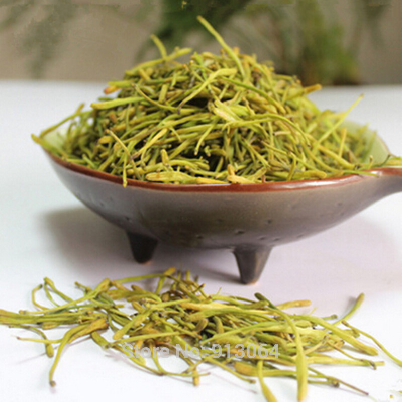 1kg Free shipping Honeysuckle tea Green Herbal Medicine Tea Clearing Heat Lose Weight Flower Tea Lonicera japonica scented tea