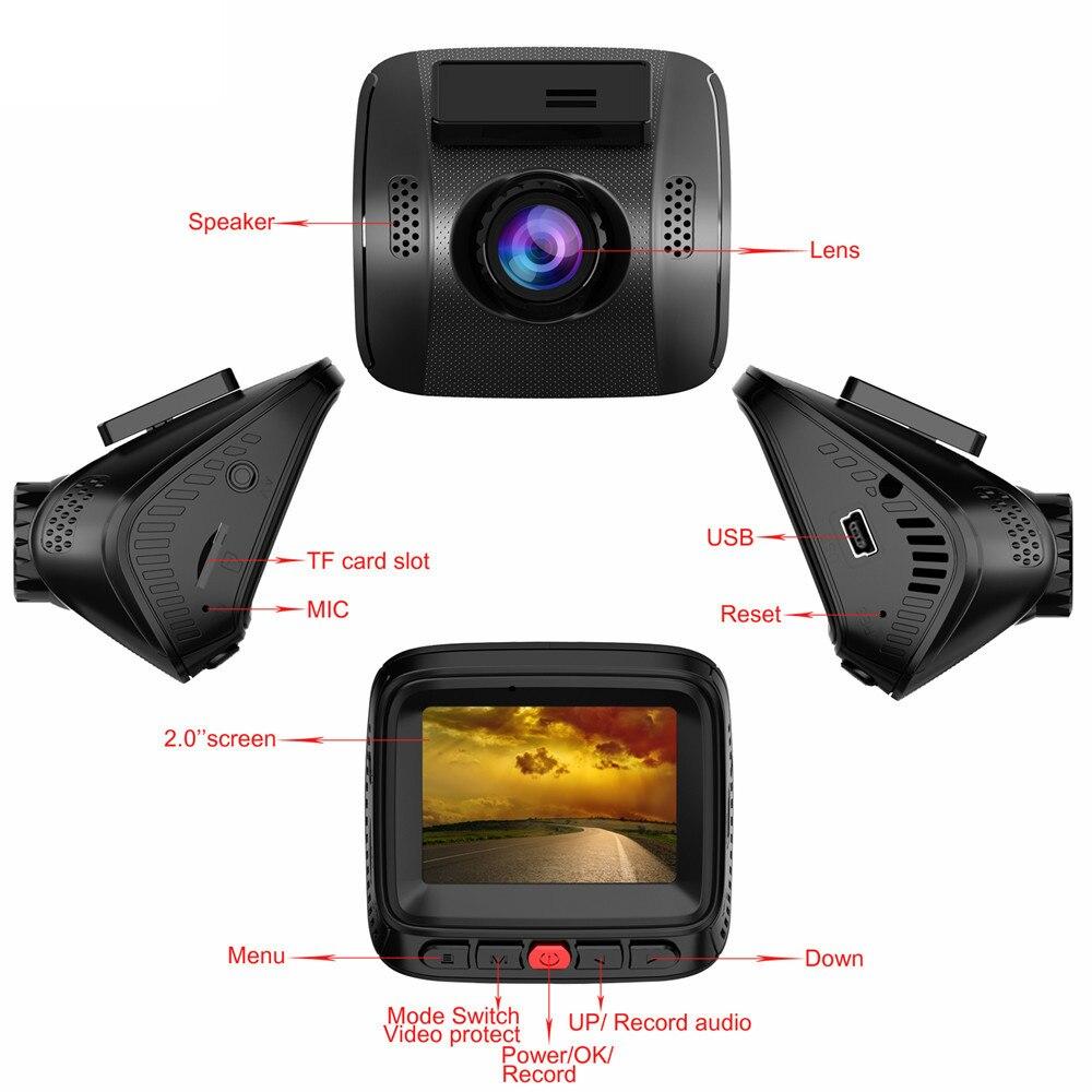 Mini Full HD 1080 P WIFI voiture DVR Dashcam 170 degrés WDR enregistreur vidéo caméra g sensor enregistrement en boucle Vision nocturne Novatek 96655 - 5