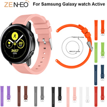 New Watchband Silicone strap For Samsung Galaxy watch Active 20mm straps Replacement wristband For Samsung Gear S2 Accessories все цены