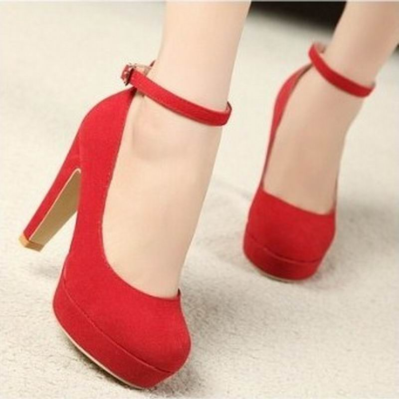 Aliexpress.com : Buy 2017 Red wedding shoes vintage high heeled ...