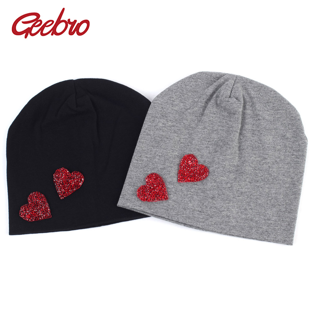 92ff3549d US $4.99 40% OFF|Geebro Kids Cotton Beanie Hat 2019 Spring Heart Candy  Color Slouchy Beanies for Boys and Girls DIY Skullies&Beanies for  Newborn-in ...