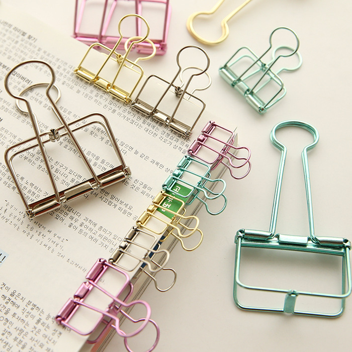 Paper Clips Clips De Papel Binder Hollow Clips Photo Holder Office Accessories Wonder Clips Cute Gift Bureau Accessoires Medium