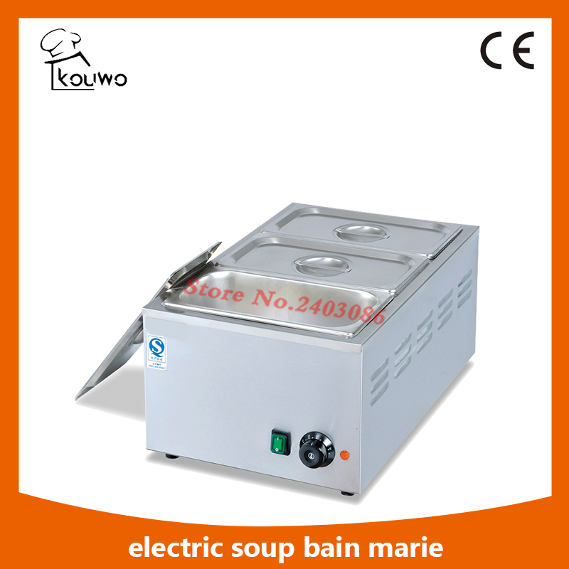 Commercial table counter top fast food resturant Electric stainless steel 3 Pans hot soup food warmer Bain Marie for sale fast food leisure fast food equipment stainless steel gas fryer 3l spanish churro maker machine