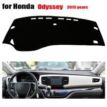 Приборной панели автомобиля Чехлы для Honda новый Odyssey 2015 левый руль тире охватывает тире мат авто Dashboard аксессуары избежать свет мат