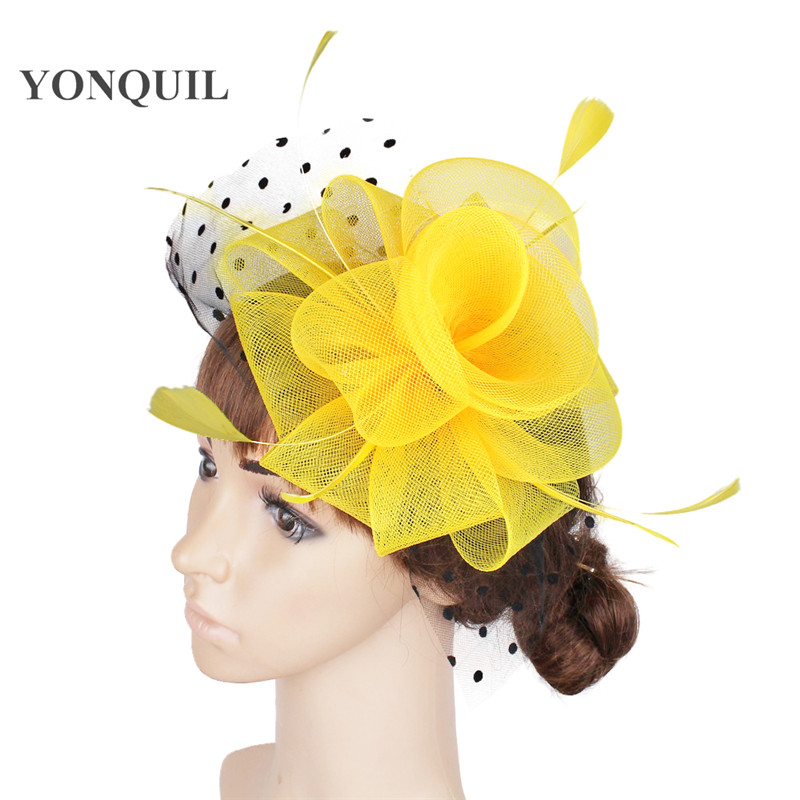 nice fascinator hair accessories cocktail hats party hats wedding headpieces Free shipping 17 color available 12Pcs