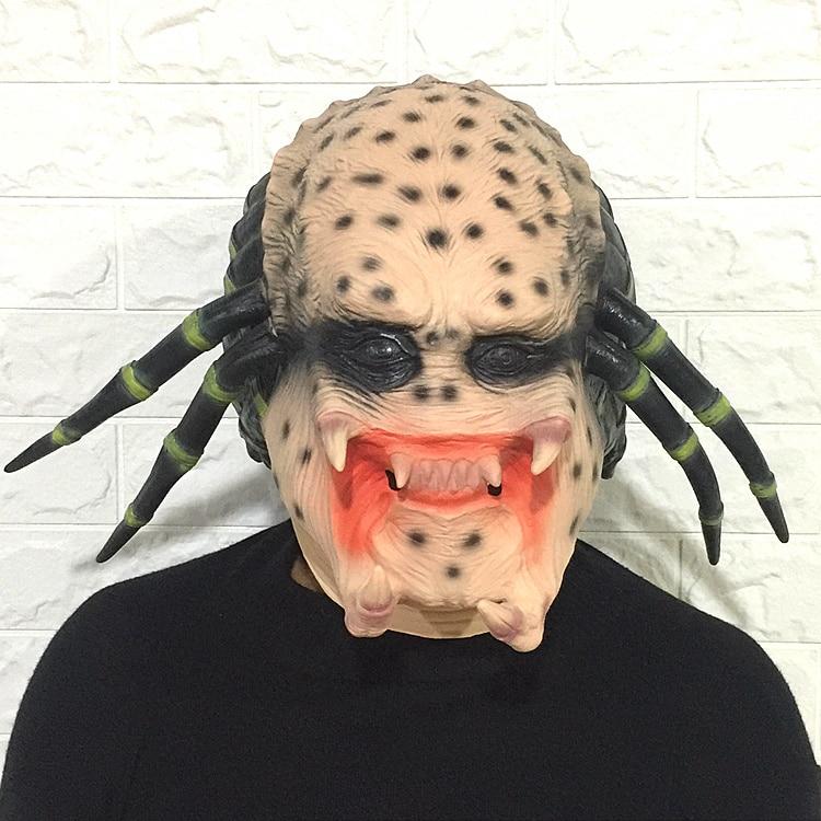 OHCOMICS Alien Latex Halloween Mask Props Realistic Terror Thriller prank Scary Masks Cosplay Full Head Mask Halloween Masks