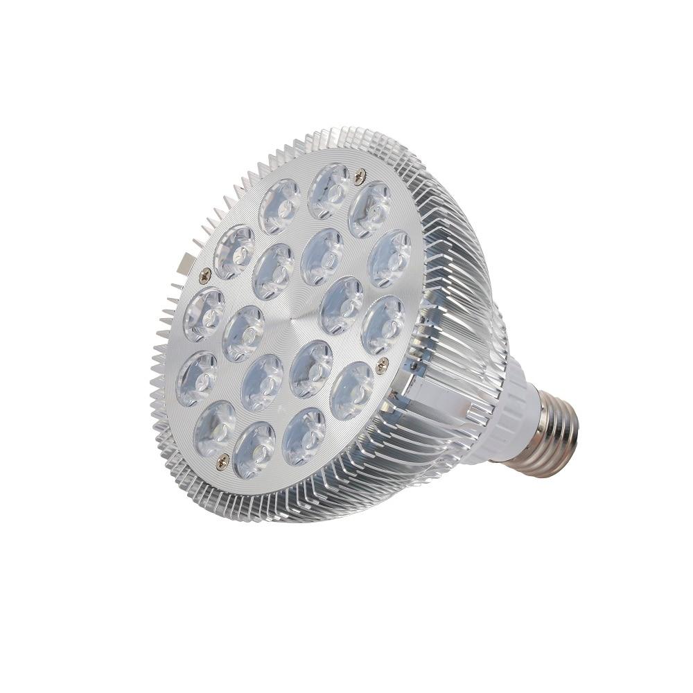 1pcs E27 54W LED رشد نور 12 سفید + 6 LED آبی آکواریوم چراغ لامپ برای صخره های مرجانی و ماهی های آکواریومی قیمت عمده فروشی