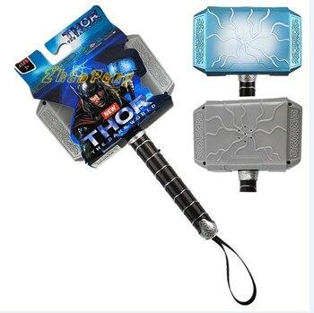 18 см Молот Тора мьельнир ПВХ игрушка с подсветкой и голосом детские игрушки на День всех святых подарок для детей