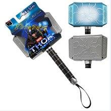 18CM Thor Mjolnir pvc toy voice lighting kids toy