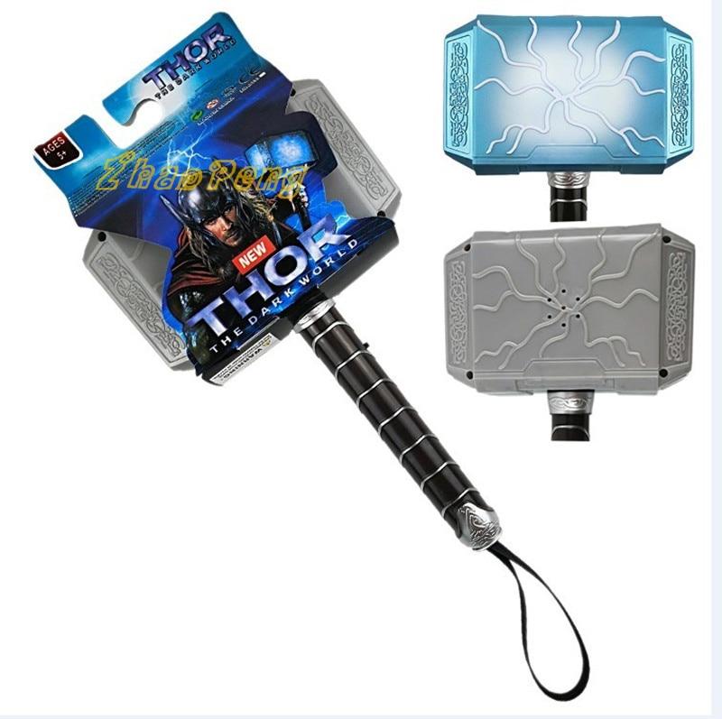 18CM Thor Mjolnir pvc toy voice lighting  kids toy Hallowmas toys gift for children
