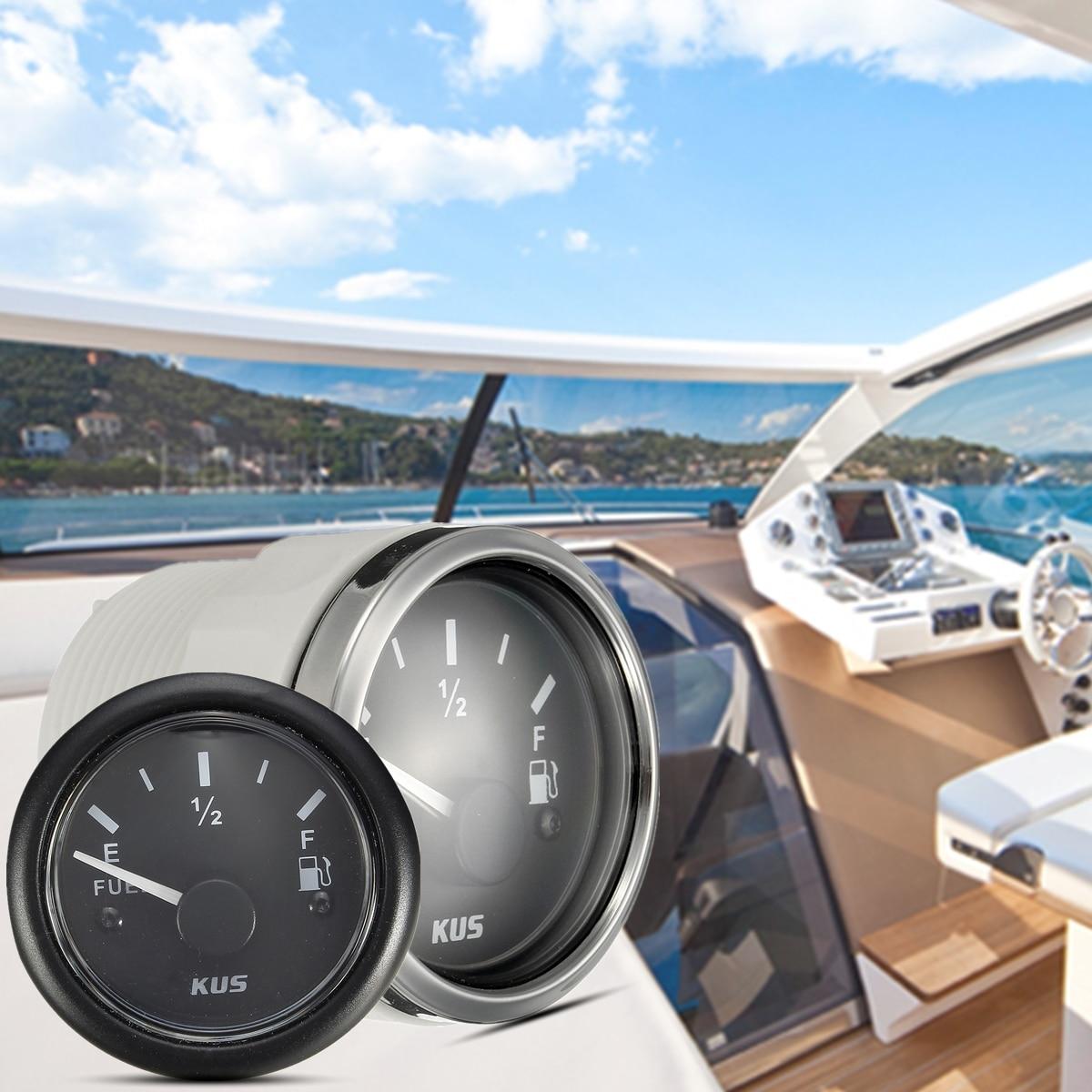 12/24 v IP67 Multi-spine Presa di Collegamento KUS Carburante/Acqua Indicatore di Livello Marine/Barca Serbatoio indicatore del livello di Nero 52mm 0-190 di Resistenza