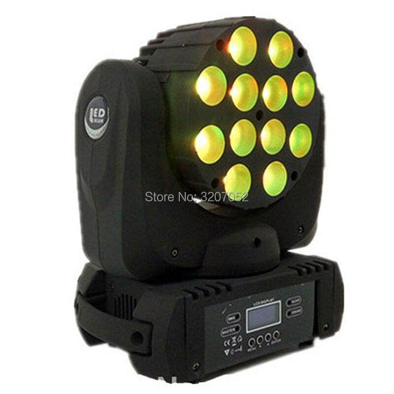RGBW 4in1 12x12 W Cree LED faisceau principal mobile LED avec d'excellents Pragrams dmx 9/16 canaux DJ étape lumière expédition rapide
